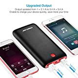 from Poweradd Poweradd Pilot X7 20,000mAh Portable Universal External Power Bank, Red-Black Model MP-3461