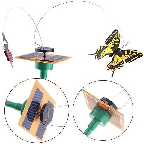 Kingzer 2 * Solar Power Real guardare la farfalla di volo Giardino Yard Balcone Decoration