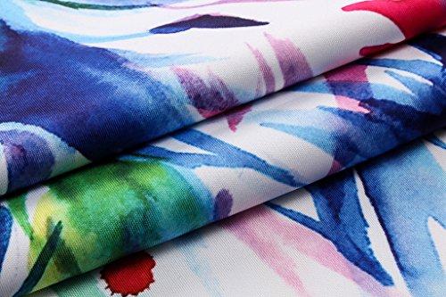 Pizoff Unisex Sommer Leicht Bunt Bequem Cool Digital Print Schmale Passform T Shirts mit Bunt 3D Muster Y1788-21
