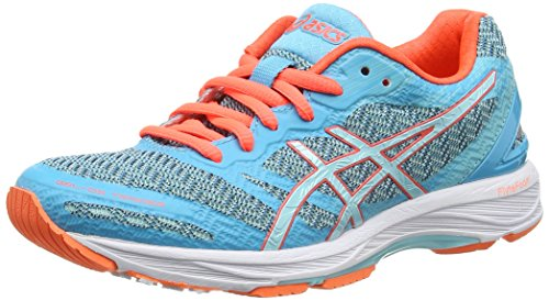 ASICS Gel-DS Trainer 22 Scarpe Running Donna, Blu (Aquarium/Aqua Splash/Flash Coral) 39 EU