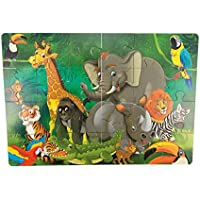 Holzspielzeug Eichhorn Holz Steck Puzzle Tier Nashorn Neu