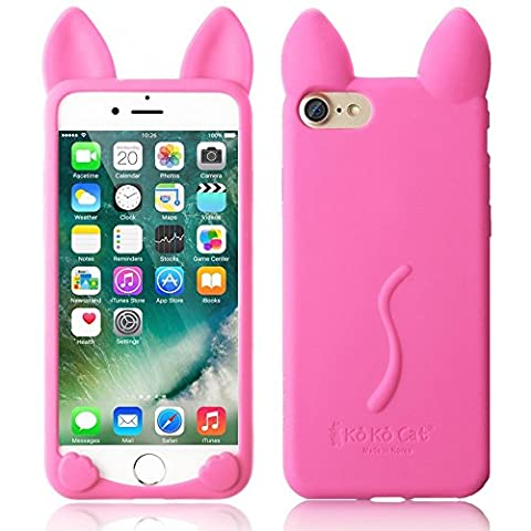 iPhone 6 Plus Flexible Cover, elecfan® 3D Cartoon Lovely Cat Soft Gel Cover Shockproof Silicone Protective Case For Apple iPhone 6 Plus Devices – Hot