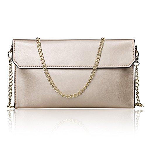 Honeymall Borse della borsa della borsa della spalla del messaggero del Crossbody del cuoio del Faux delle donne Blu Oro