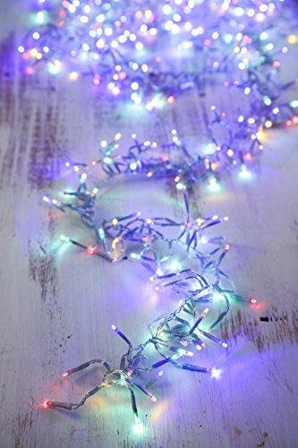 Gresonic 384 Led Lichterkette Cluster Feuerwerk Beleuchtung Strombetrieb mit Umspannung Außen für Bar Party Hochzeit Weihnachten Mehrfarbig (bunt)