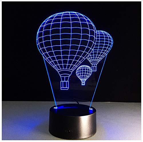 7 Farbe Heißluft Ballon Lampe 3D Visuelle Led Nachtlichter Für Kinder Touch Usb Tisch Lampara Lampe Baby Schlafen Nachtlicht