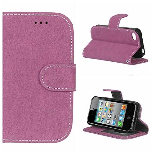 Voguecase® für Apple iPhone 7 4.7 hülle,(London Bus) Kunstleder Tasche PU Schutzhülle Tasche Leder Brieftasche Hülle Case Cover + Gratis Universal Eingabestift Retro bereift/Rosa