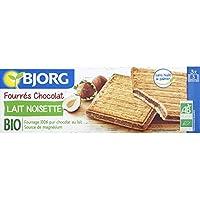 Bjorg - Bio - Fourrés chocolat lait noisettes - Le paquet de 225g - Pirx Unitaire - Livraison Gratuit Sous 3 Jours