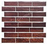 Crystiles schälen und Stick DIY Duett Tile Aufklebbares Vinyl Wand Fliesen, Perfekte Duett Idee für Küche und Badezimmer Décor Projekte, Artikel # 91010835, 25,4x 25,4cm, je 6Blatt Pack