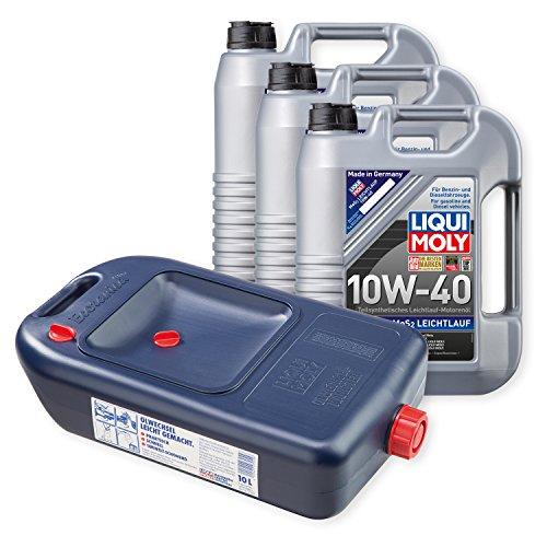 Preisvergleich Produktbild 3x LIQUI MOLY MoS2 Leichtlauf Motoröl 10W-40 5L 1092 + Kanister
