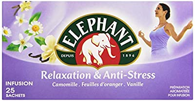 Elephant Infusion Relaxation et Anti Stress 25 Sachets 39 g