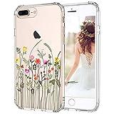 MOSNOVO iPhone 8 Plus Hülle, iPhone 7 Plus Hülle, Wildblume Blume Muster TPU Bumper mit Hart Plastik Hülle Durchsichtig Schutzhülle Transparent für iPhone 7 Plus/iPhone 8 Plus (Wildflower)