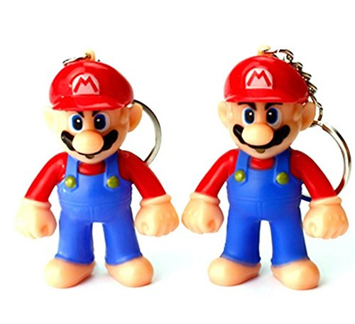 """Preisvergleich Produktbild Super Mario Schlüsselanhänger Figur mit LED und Sound """" I Love You"""""""