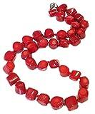 Schöne TreasureBay Dicke Halskette Rot Koralle 48.26 cm, 48 cm, wird in einer wunderschönen Schmuck Geschenkverpackung
