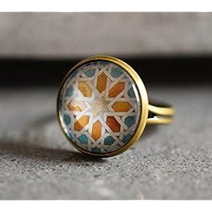 AZULEJOS III Bronze Ring