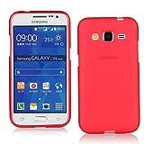 TBOC Coque Gel TPU Rouge pour Samsung Galaxy Core Prime G360 en Silicone Souple Ultra Mince Etui Housse