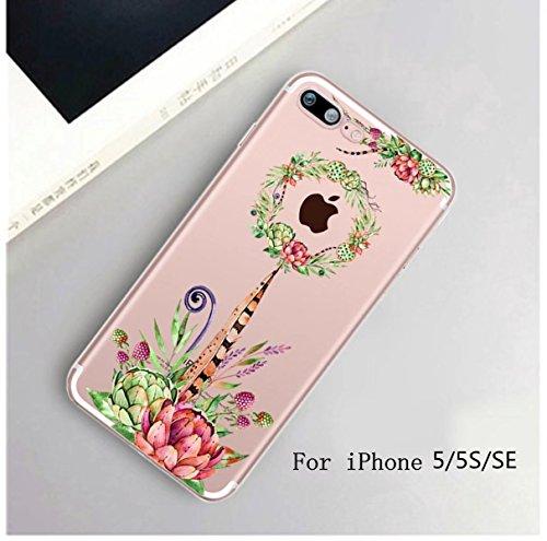 Cover iPhone 6 Plus Custodia telefono creativo trasparente silicone Guscio morbido Anti Graffio Copertura protettiva Anti-polvere paraurti Si applica a iPhone 6/6S Plus(5.5) disegno-20
