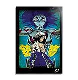 Alita Angelo della Battaglia (Battle Angel Alita, Gunnm) - Quadro Pop-Art Originale con Cornice, Dipinto, Stampa su Tela, Poster, Locandina, Anime, Manga