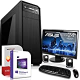 Multimedia Office PC mit Monitor Intel Core i5 7400 4x3.5GHz 7.Generation |ASUS Board|24 Zoll TFT|8GB DDR4|480GB SSD|Intel HD 630 Grafik 4K VGA|DVD-RW|USB 3.1|SATA3|Windows 10 Pro|3 Jahre Garantie