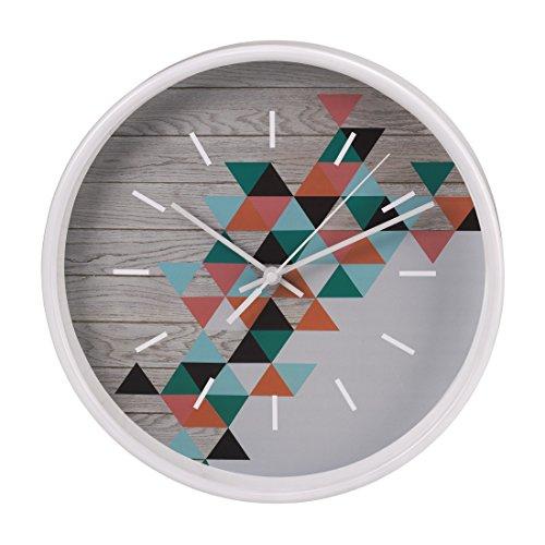 Hama Wanduhr (geräuscharm ohne Ticken, modernes Dreieck-Design, 26 cm)
