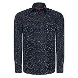 Signum Herrenhemd - Salto Mortale ICON Shirt mit kunstvollem Print - Classic Fit - Dunkelblau - Größe - XL