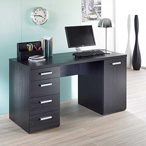 Pharao24 Schreibtisch in Schwarz Esche Büro -