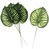 Homyl 5 Stück Groß Palmen Grün Kunstblätter Deko Künstliche Blätter, Wohnkultur - 3