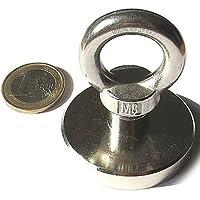 61331308dd2 Super Imán de neodimio otn-50-inox Potencia 75 kg con práctico Ojal de