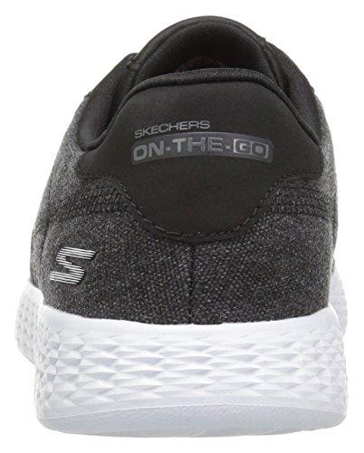Skechers On The Go Glide Sprint Textile Turnschuhe Black/White