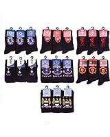 Mens Official Football Team Club Crest Design Socks Mens Cotton Lycra Blend Pattern Design Socks Shoe Size 6-11