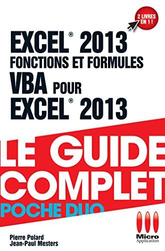 POCHE DUO FONCTIONS FORMULES VBA EXCEL 2013
