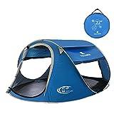 ZOMAKE Tenda Istantanea da Campeggio Pop-Up per 2 persone, Impermeabile, Ventilata e Resistente (blu)