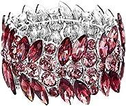 EVER FAITH Women's Stretch Bracelet Marquise Crystal Art Deco Hand Chain Wedding Bridal Jew