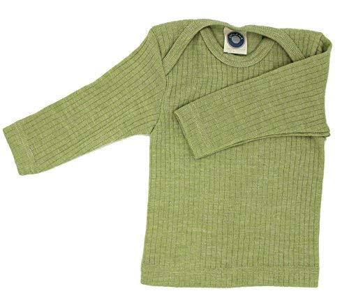 Cosilana Schlupf Chemise by spécial Laine Body® Qualité 45% Coton Biologique, 35% Laine, 20% Soie KBT - Vert - 9 Mois