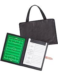 AGPTEK Tableau Tactique Magnétique pour Entraîneur de Football avec Stylos, Pion Magnétique et Sac à main