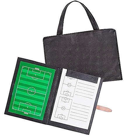 AGPTEK Tableau Tactique Magnétique pour Entraîneur de Football avec Stylos, Pion Magnétique et Sac à