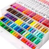 YaToy Dual Brush Pen - Set di pennelli con Punta in Feltro, Perfetti per pennarelli, diari a Forma di Bullet, per Lettere, acquerelli, Arte e Bambini