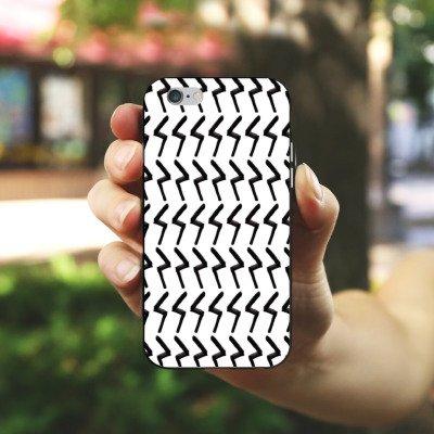 Apple iPhone SE Housse Outdoor Étui militaire Coque Black Jack Abstrait Motif Housse en silicone noir / blanc