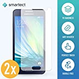 smartect Samsung Galaxy A3 2015 Panzerglas Folie - Displayschutz mit 9H Härte - Blasenfreie Schutzfolie - Anti Fingerprint Panzerglasfolie [2 Stück]
