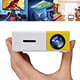 Proiettore Diapositive Teepao Mini Proiettore Proiettore LED Portatile Home Cinema Theater Con PC USB / SD / AV / Ingresso HDMI Proiettore Tascabile Per Videogiochi Videogiochi Proiettore -Giallo