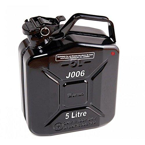 Kanister 5L Liter Metall Kraftstoff Diesel Benzin Benzin Öl Schwarz Kerosin Armee Typ J006