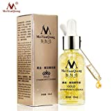 Zantec Serum, Essence, 24K Gold Essence Day Creme für die Hautpflege Anti Falten Anti-Alterung Kollagen Bleichmittel Essenza feuchtigkeitsspendend
