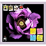 ArtzFolio Violet Peony Flower Printed Bulletin Board Notice Pin Board cum White Framed Painting 17.4 x 16inch