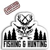 Vinyl Aufkleber Autoaufkleber Jäger Fishing Hunting Hobby Jagd Angeln Sticker Auto Moto Motorrad...