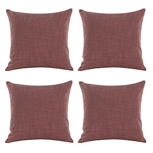 Aipark 45,7x 45,7cm classico puro lino federa cuscino decorativo covers divani letto sedie red wine