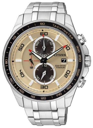 Citizen supertitanio crono eco drive ca0348-53w - orologio da polso uomo