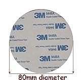1 einzelnen Pad x 3 m Klebeband EVA Schaumstoff schwarz ~ 80mm Durchmesser x 2mm doppelseitig Acryl Automotive Aufsatz Kreis – Modell: 9448
