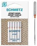 SCHMETZ Nähmaschinennadel 130/705 H SUK | 5 Jersey-Nadeln | Nadeldicke:...