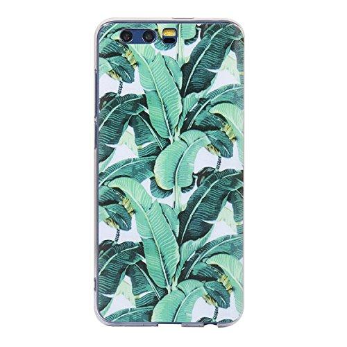 Preisvergleich Produktbild Honor 9 Hülle, Anlike Huawei Honor 9 (5,2 Zoll) Handy Hülle [Bunte Muster Design] Schutzhülle Etui Bumper für Huawei Honor 9 (5,2 Zoll) - Grüne Blätter