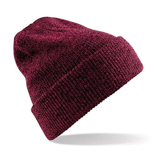 Unisex Beechfield Heritage Vintage Double Knit Beanie Hat