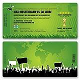 (20 x) Einladungskarten Geburtstag Fussball Kindergeburtstag Ticket Einladungen